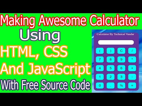 Making Awesome Calculator Using HTML, CSS And JS.||Free Source Code.||