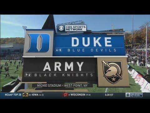 November 11, 2017 - Duke Blue Devils vs. Army Black Knights Full Football Game 60fps