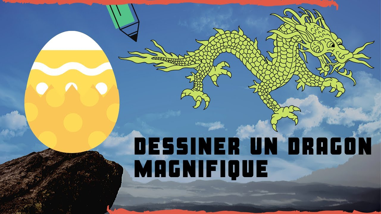 Dessiner un dragon chinois aux yeux bleu un dessin super youtube - Dessins dragon ...