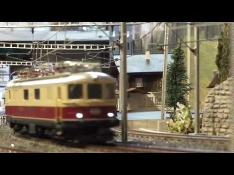 Märklin SBB TEE Bavaria Express Train #26557 in Omokochi modelbahn