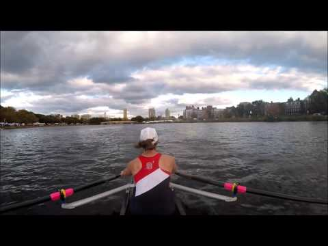Head of the Charles 2015 - Directors Challenge Mixed 2x - Sammamish Rowing Association (Headcam)