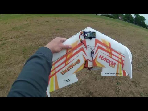 Hacker Hotwing 750 maiden flight and tuning Greg006