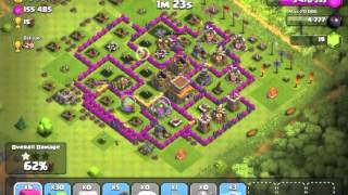 Clash of Clans - Barbarian King, Giants, Archers, Goblins and Healer - 470k Resource Raid #2