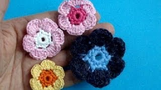 Вязаный крючком цветок Урок 12 How to crochet flower