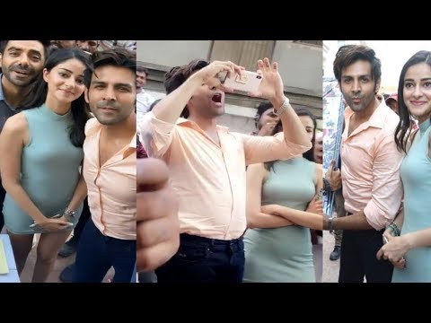 Kartik Aryaan And Ananya Pandey Celebrate Pati Patni Aur Woh Director Birthday Mp3