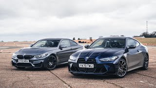 F82 vs G82 BMW M4 Competition Old vs New | Drag Race & Track Battle | 4K