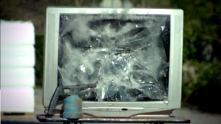 Big TV Implosion ! :p (1500fps slow-mo)