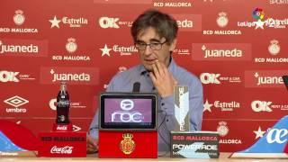 Rueda de prensa de Vázquez RCD Mallorca vs UCAM Murcia (0-0)