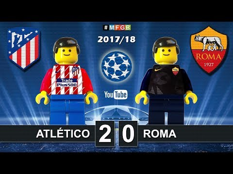 Atletico Madrid - Roma 2-0 • Champions League (22/11/2017) Goals Highlights Lego Football 2017/18