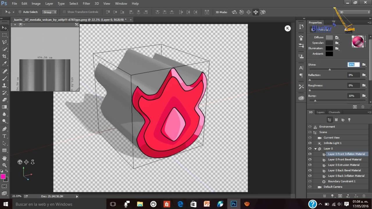Como Diseñar Objetos 3d En Photoshop Cc Youtube