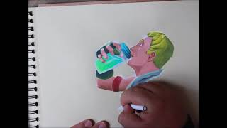 "FORTNITE: Drawing a ""No Skin"""