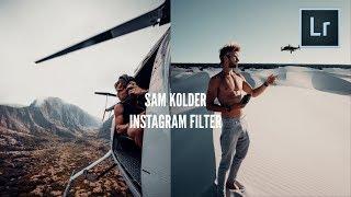 SAM KOLDER Instagram Filter Tutorial (@sam_kolder)