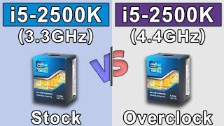 i5 2500K (stock) vs i5 2500K (overclock)  New Games Benchmarks
