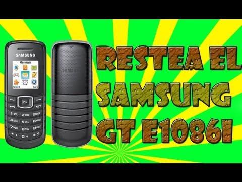 Como Resetear un Celular Samsung GT E1086i