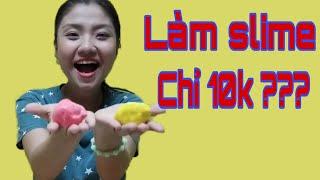 Thử Thách Làm Slime Với 10k | Như Quỳnh Kids