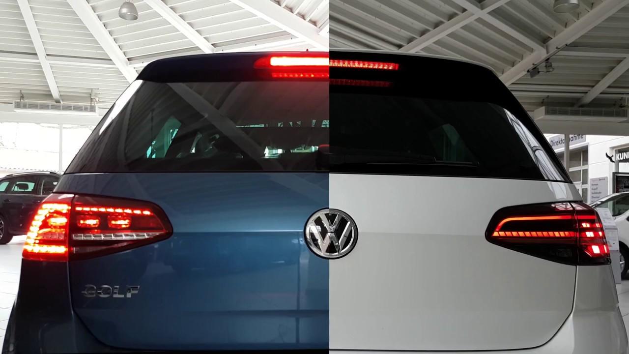 VW Golf 7 LED Rckleuchten im direkten Vergleich zum neuen ...
