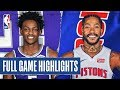 KINGS at PISTONS | FULL GAME HIGHLIGHTS | January 22, 2020