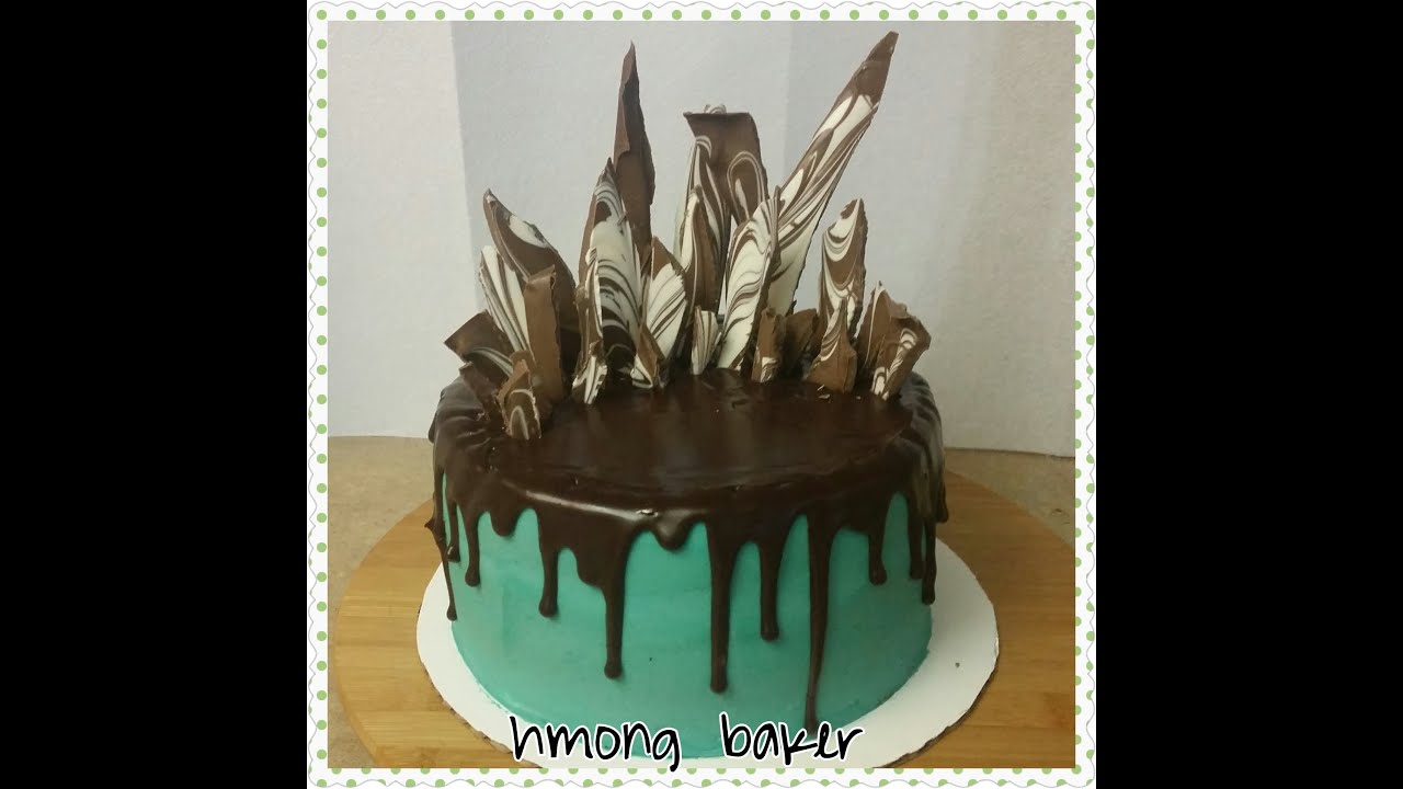 How I decorate my drip cake with TEMPERED CHOCOLATE. Cake ...