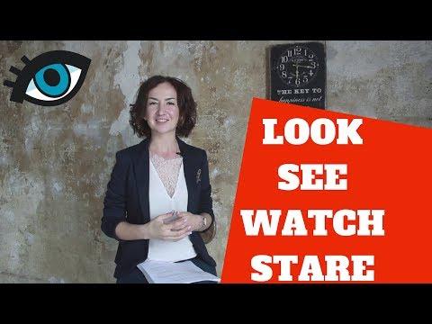 Разница между словами LOOK/SEE/WATCH/STARE. Большая разница! Английский для путешествий