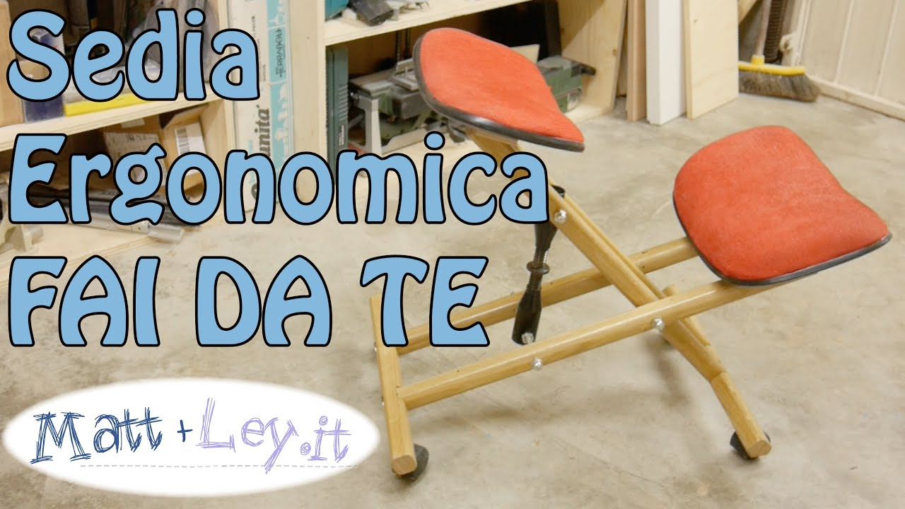 sedia ergonomica fai da te kneeling chair youtube
