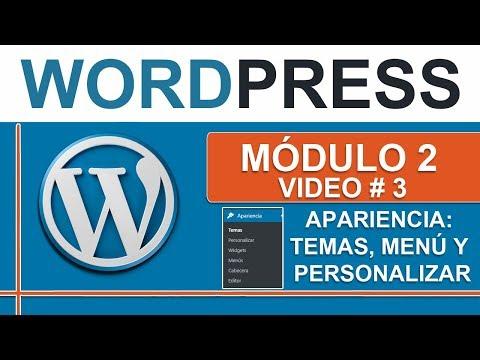 Personalizar temas y menú en Wordpress