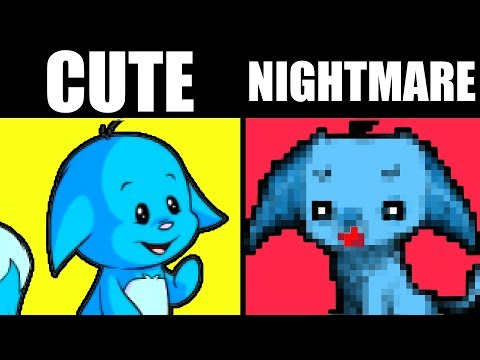 WHAT HAPPENS WHEN YOU DON'T FEED YOUR NEOPETS! [Cute to Creepy Neopets Redesign!]