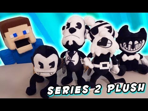 Bendy and the Ink Machine PLUSH Series 2 Butcher Gang Ink Demon Ser Review Unboxing