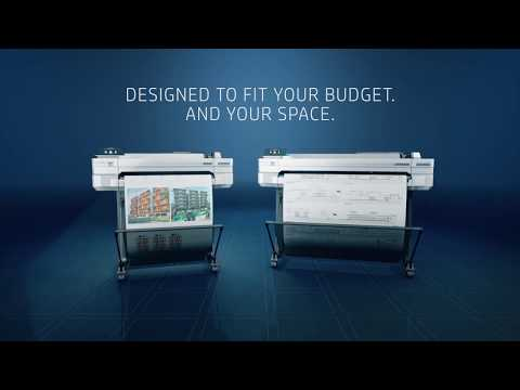 HP DesignJet T530 24 Inch Printer (5ZY60A) Product Video - YouTube