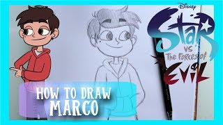 How to Draw MARCO from STAR VS THE FORCES OF EVIL - @dramaticparrot