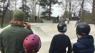 Celebrating the opening of the new skatepark at Victoria Park in Haywards Heath.  The skate jam w...