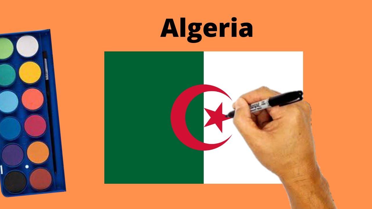 How to Draw Algeria Flag   Drawing National Flag of Algeria