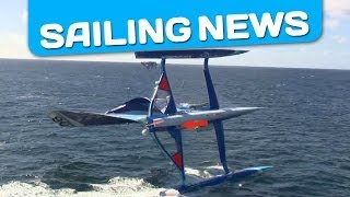 Capsize of the sailboat Virbac Paprec - complete footage of the crash