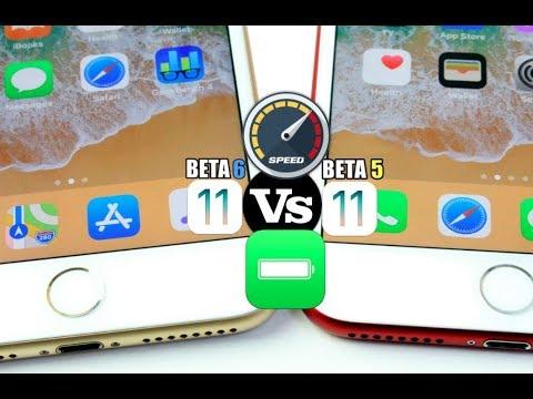 iOS 11 BETA 6 Vs iOS 11 BETA 5 Performance & Battery Test Comparison