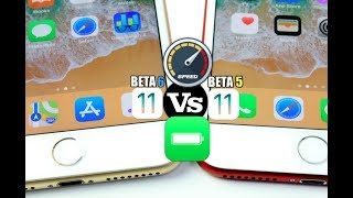 iOS 11 BETA 6 Vs iOS 11 BETA 5 Performance & Battery Test Comparison
