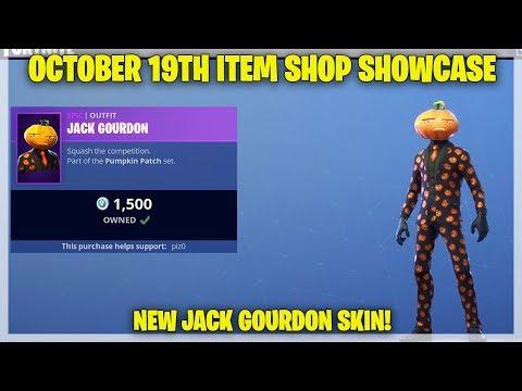 Fortnite Item Shop [October 19th, 2018] JACK GOURDON SKIN! (Fortnite Battle Royale)