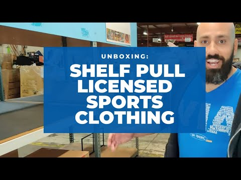 Unboxing: Assorted Shelf Pull Licensed Sports Clothing
