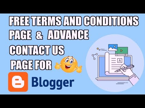 Free Terms And Conditions Page Generator For Website & Contact Us Page HTML Code For Blogger