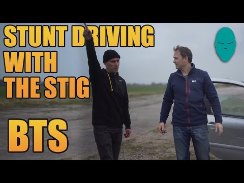 Stunt Driving with The Stig Behind The Scenes | Damien Walters