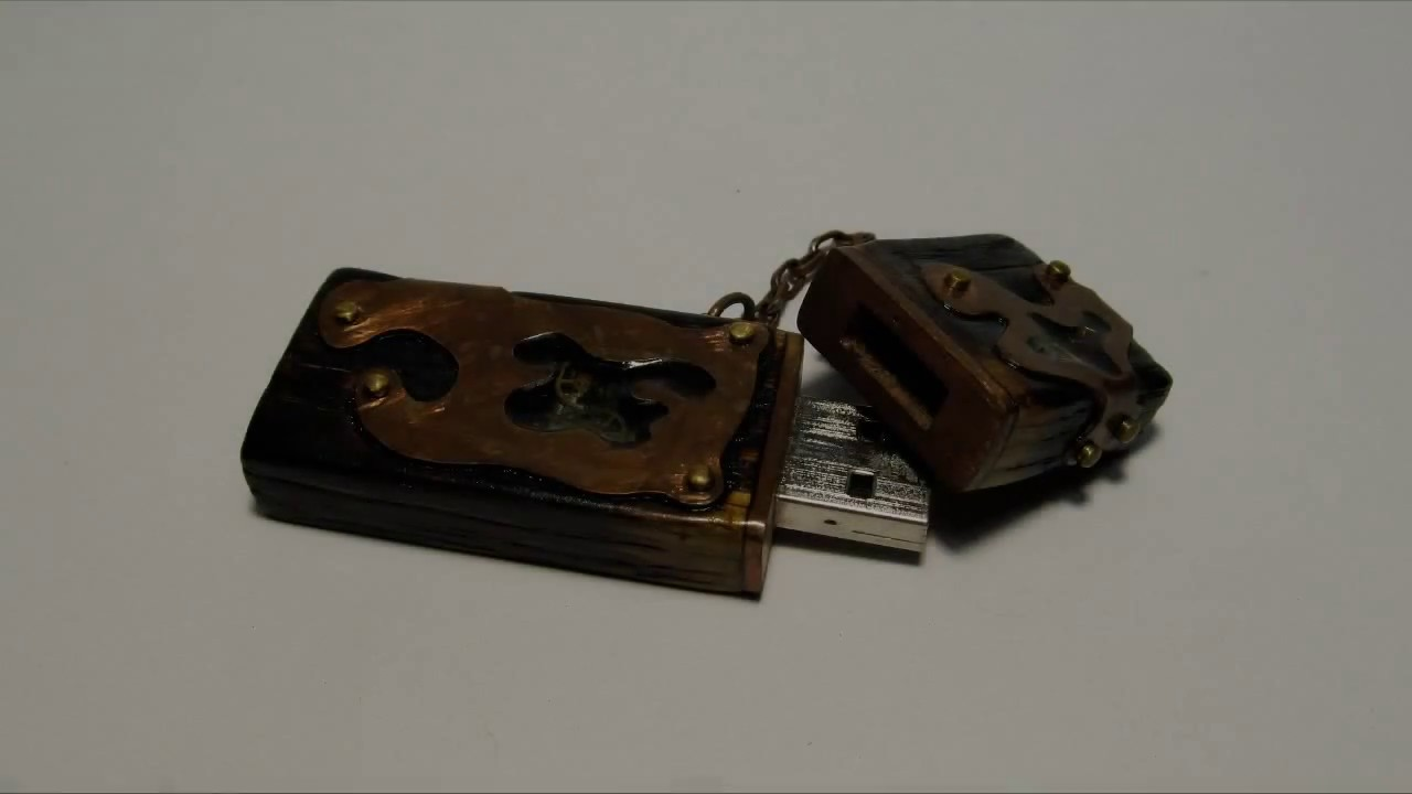 Steampunk USB flash drive with your hands