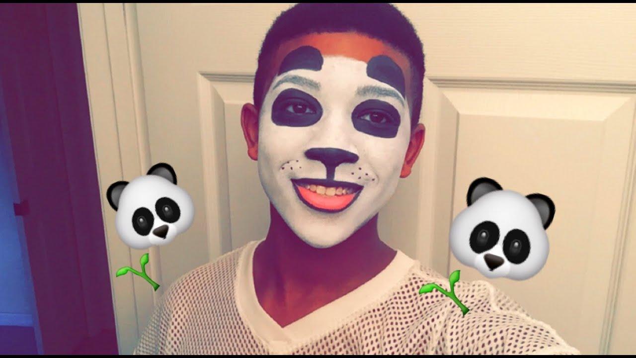 Easy Panda Face Paint Tutorial Stylezbyjubae Youtube