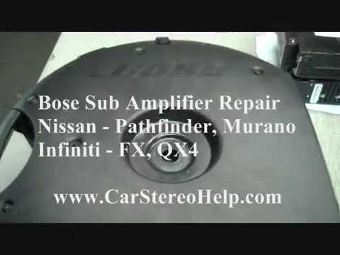 How to Infiniti FX Bose Sub Amp Repair 051715 car speaker subwoofer