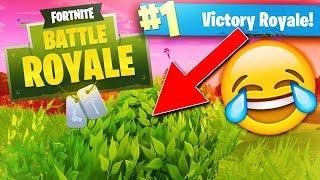 CRAZIEST BUSH 1 vs 4 CLUTCH #1 VICTORY!! (Fortnite Battle Royal Funny Moment Gameplay)