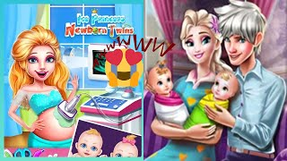 Ice Princess Newborn Twins Pregnant Surgery Simulator  | Best Games for Girls screenshot 5