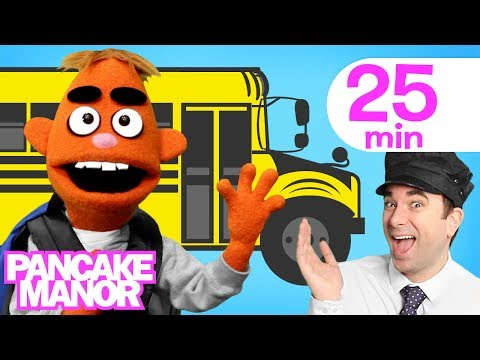 WHEELS ON THE BUS ♫ | Nursery Rhyme | Kids Songs Collection | Pancake Manor