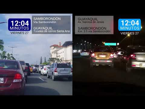 ¿Cuánto tomaba ir desde Guayaquil a Samborondón y viceversa antes del puente?