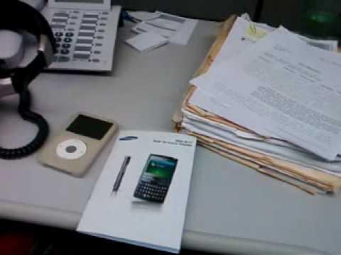 Breve teste de filmagem Samsung BlackJack II (SGH-i617)