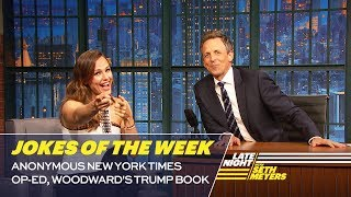 Seth's Favorite Jokes of the Week: Anonymous New York Times Op-Ed, Woodward's Trump Book