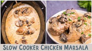 Slow Cooker Chicken Marsala  {…