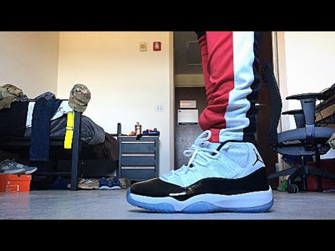 "2a117bcedf8 2018 AIR JORDAN 11 ""CONCORD"" ON FEET REVIEW!! - YouTube"