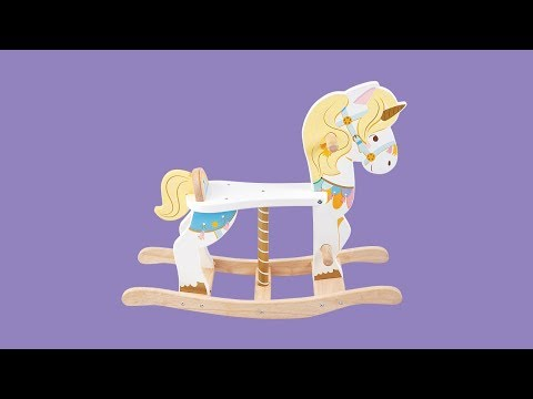 Rocking Unicorn Carousel | Petilou© Collection | Le Toy Van | Traditional Wooden Toys